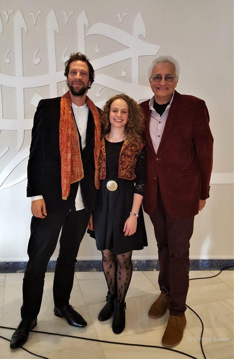 Ignacio Lusardi Monteverde, Victoria Couper and Amin Abdulla Pardhan at The Ismaili Centre